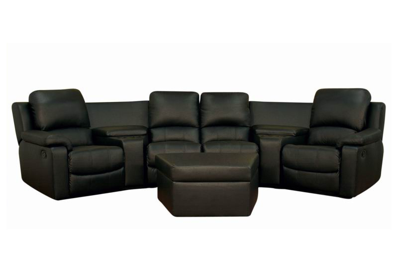 Home Theater Seating Set 8802 Matinee in Black